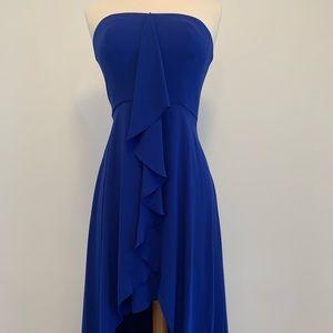 BCBG Maxazria Runway Royal Blue Strapless Dress